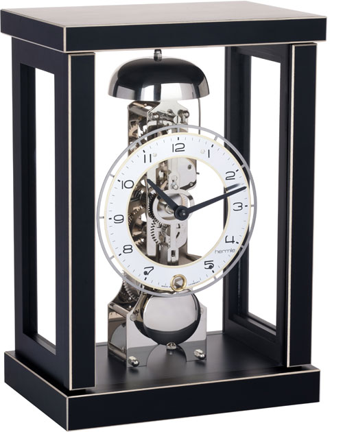 ヘルムレ HERMLE 置き時計 機械式 ブラック 23056-740791 ヘルムレ報時置き時計