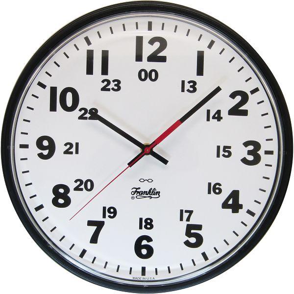 シンプルデザイン FRANKLIN CLOCK 掛け時計 2412BLQ