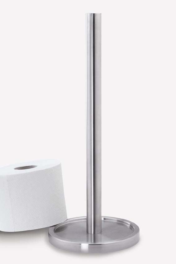 シンプルでスマートなデザインが魅力!ZACK製ステンレストイレットペーパーホルダーMIMO 40180