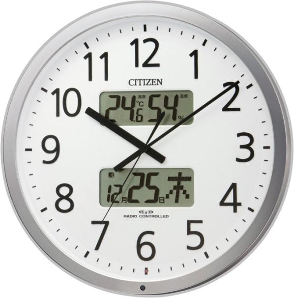 チャイムを鳴らす時間をプログラム管理!電波掛け時計 プログラムカレンダー403 4FN403SR19 リズム時計(シチズン時計)