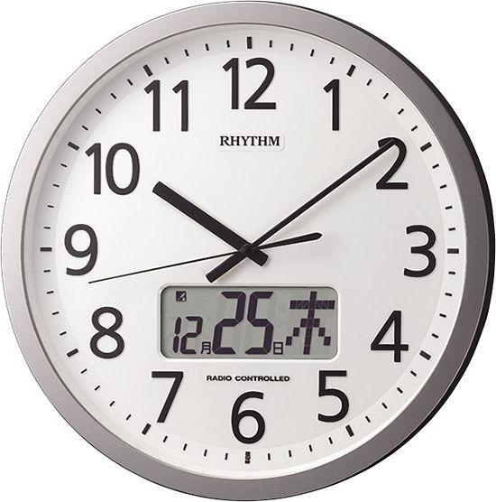 チャイムを鳴らす時間をプログラム管理!電波掛け時計 プログラムカレンダー405 4FN405SR19 リズム時計