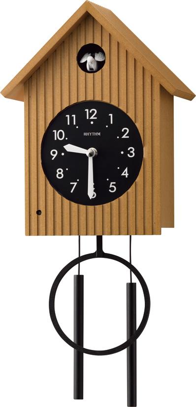 カッコークロック 鳩時計 グレイスカッコー408R 4MJ408RH06 リズム時計 カッコーが鳴いて時刻を知らせます!