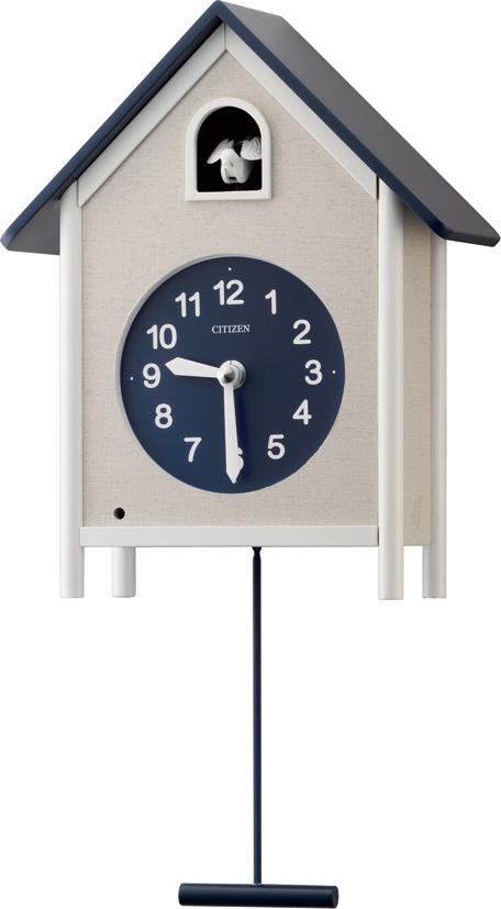 カッコークロック 鳩時計 グレイスカッコー409 4MJ409-011 シチズン時計 カッコーが鳴いて時刻を知らせます!