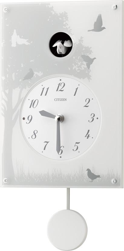 カッコークロック 鳩時計 グレイスカッコー410  4MJ410-003  シチズン時計 カッコーが鳴いて時刻を知らせます!
