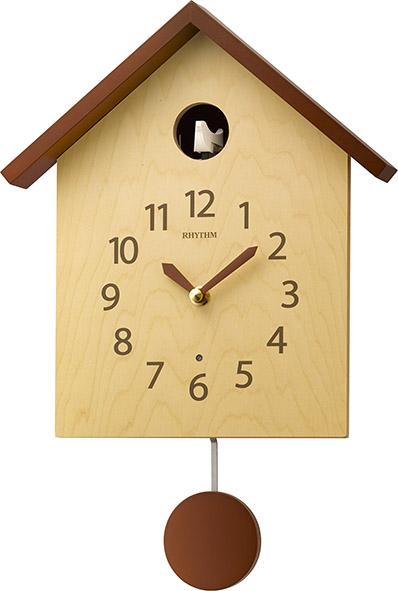 カッコークロック鳩時計 カッコースタイル145  4MJ441NC06 リズム時計 カッコーが鳴いて時刻を知らせます!