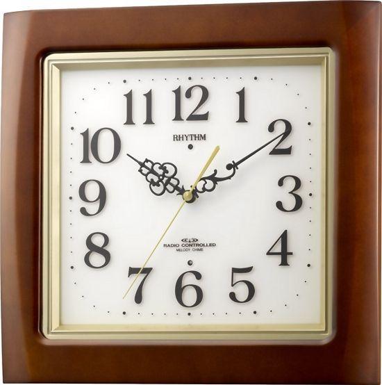 報時時計 電波掛け時計 ネムリーナM468R 4MN468RH06 リズム時計