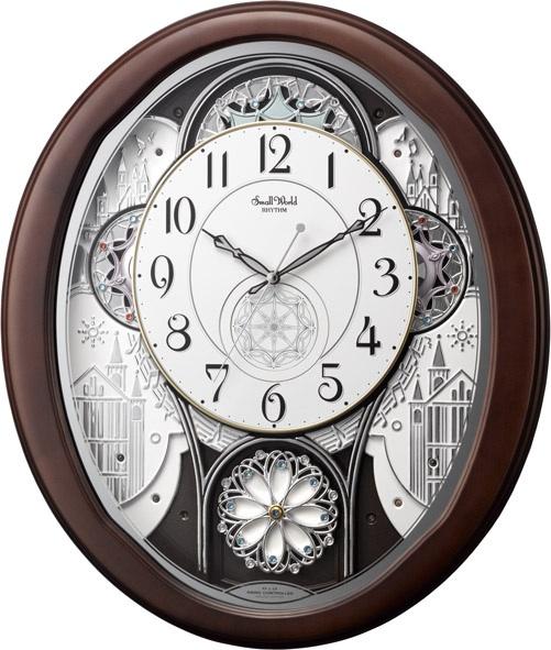 文字盤が360度回転します!からくり時計スモールワールド ノエルWF 4MN511RA06 リズム時計