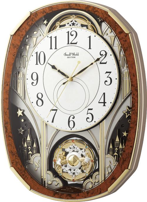 文字盤が360度回転します!からくり時計スモールワールド ノエルM 4MN513RH23 リズム時計