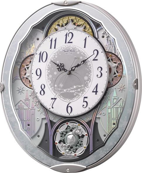 毎正時に文字盤がメロディに合わせて回転します!からくり時計スモールワールド ビスト 4MN537RH04 リズム時計