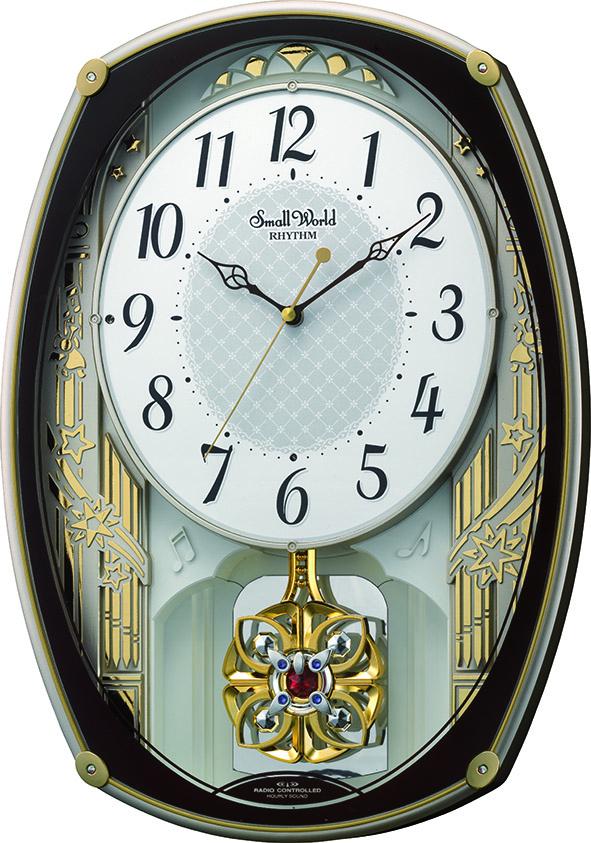 アミュージング振り子時計 からくり時計 スモールワールドレジーナ 4MN540RH06 リズム時計