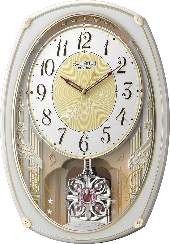 アミュージング振り子時計 からくり時計 スモールワールドクラッセ 4MN542RH03 リズム時計