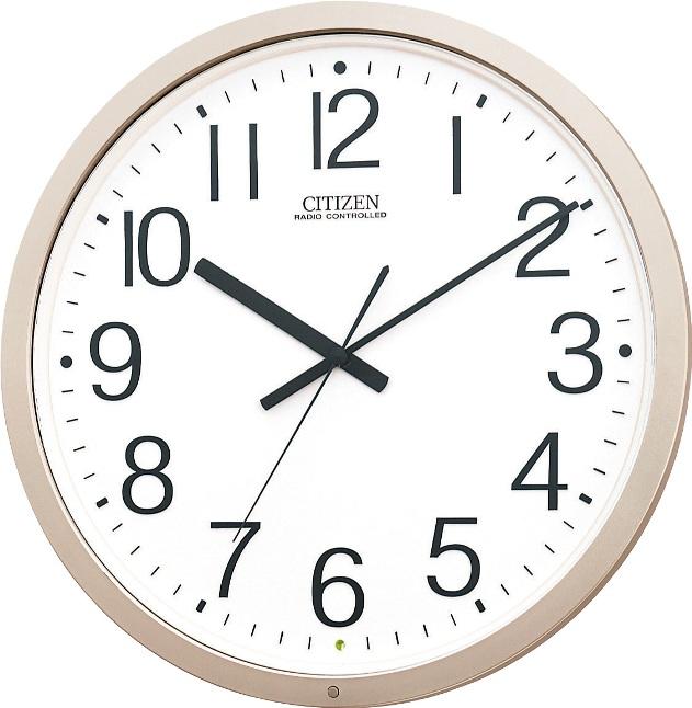 シンプルで見やすい!電波掛け時計 パルウェーブM603B 4MY603-B19 シチズン時計