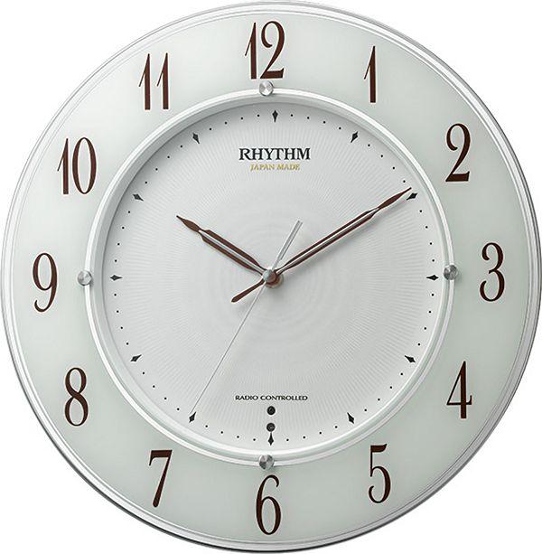 高性能スリーウェイブ! 電波掛け時計4MY847SR03 スリーウェイブM847 リズム時計