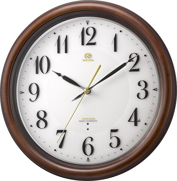 七宝柄がお洒落 掛け時計 ハイグレード RHG-M009 掛け時計 リズム時計 壁掛け時計 4MY850HG06 名入れ