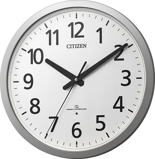 掛け時計 ユニバーサルデザインフォント 見やすい 電波掛け時計 オフィス スリーウェイブM855 4MY855-019 シチズン時計