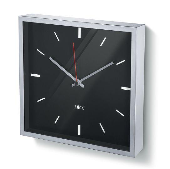 スタイリッシュなステンレス製スクエア掛け時計DURATA ブラック ZACK