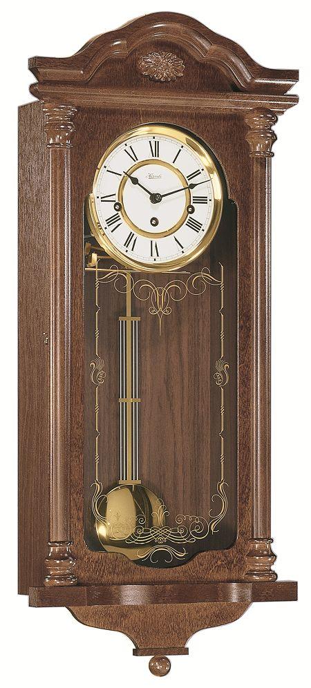 ウォルナット仕上げが美しい! ヘルムレ(HERMLE) 報時振り子時計  70509-032214