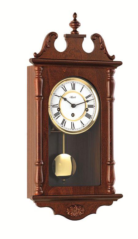 ウォルナット仕上げが美しい! ヘルムレ(HERMLE) 報時振り子時計  70964-032214