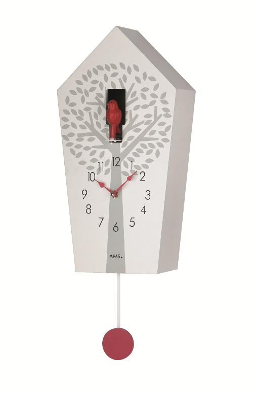 鳩時計 可愛い小鳥がポイントです! AMS(アームス)カッコー振り子時計 7286