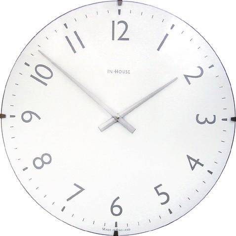 シンプルでスタイリッシュ!  INHOUSE(インハウス)掛け時計ドームクロック NW31WA ホワイトΦ29cm