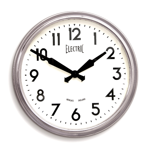 NEW GATE(ニューゲート) 50's Electric クローム GWL44PA 掛け時計 レトロ調壁掛け時計