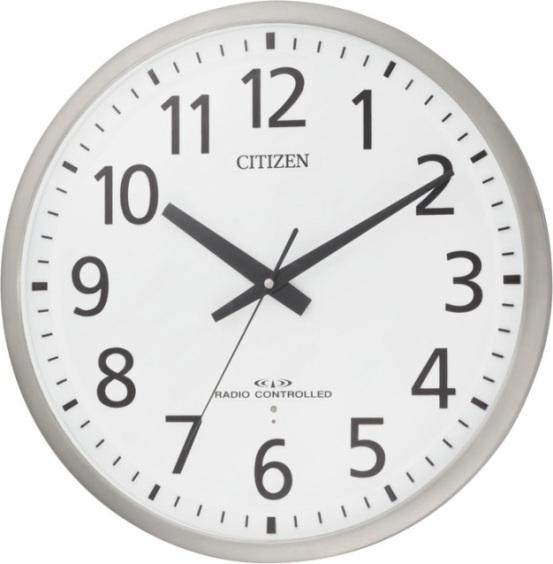 ユニバーサルデザインフォントで見やすい!電波掛け時計 スペイシーM463 8MY463-019 シチズン時計