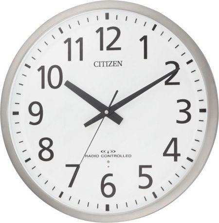 ユニバーサルデザインフォントで見やすい!電波掛け時計 スペイシーM465 8MY465-019 シチズン時計