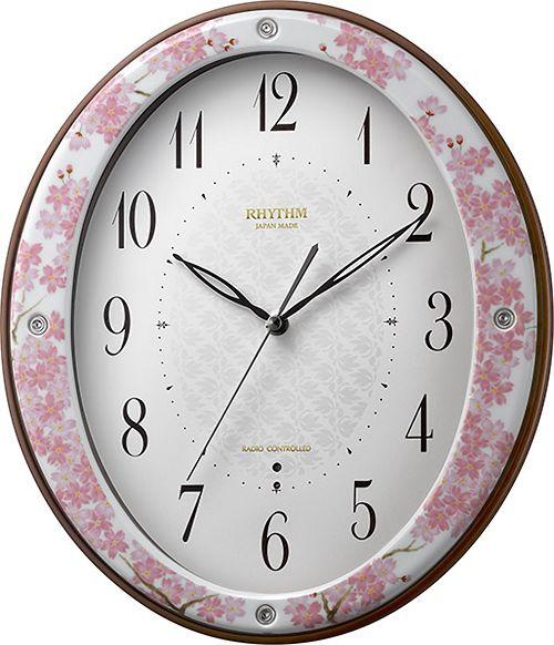 香蘭社・リズム時計共同開発品 掛け時計 ハイクオリティコレクション 13吉野桜485 リズム時計 8MY485HG13 無料名入れ