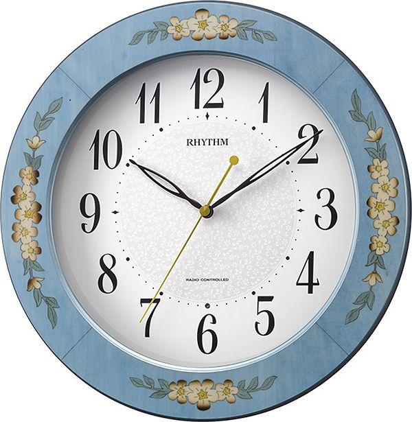 象嵌細工で高級感があふれています!電波掛け時計 アマービレM521 8MY521SR04  リズム時計
