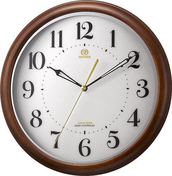 七宝柄がお洒落 掛け時計 ハイグレード RHG-M008 掛け時計 リズム時計 壁掛け時計 8MY524HG06 名入れ