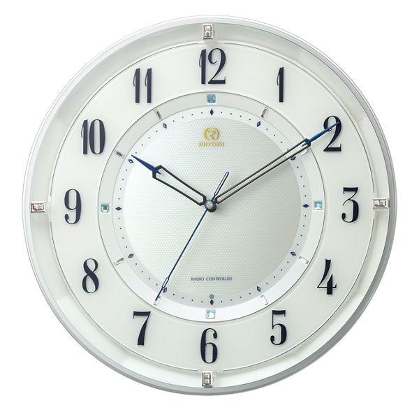 シンプルでスタイリッシュな掛け時計 ハイグレード RHG-M120 掛け時計 リズム時計 壁掛け時計 8MY558HG03 無料名入れ