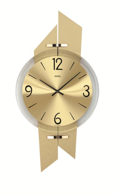 斬新なデザインが魅力! AMS アームス掛け時計 AMS9344
