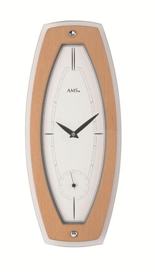 AMS9357  お洒落なデザインです! AMS アームス掛け時計
