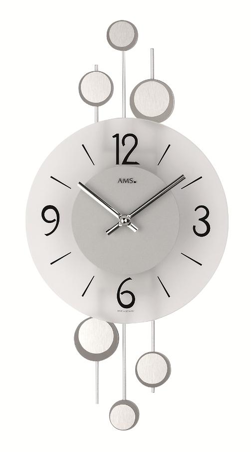 斬新なデザインが光ります! AMS アームス掛け時計  AMS9388