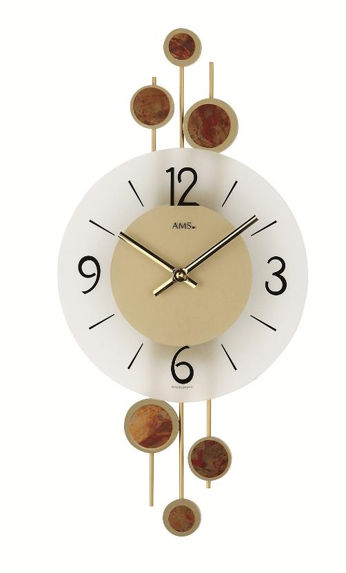 斬新なデザインが光ります! AMS アームス掛け時計  AMS9389