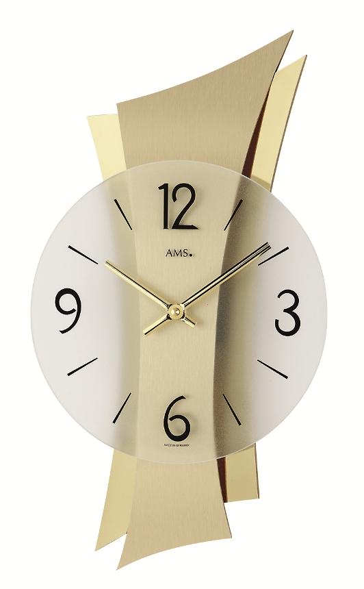 ゴールドカラーがアクセント! AMS アームス掛け時計 AMS9397