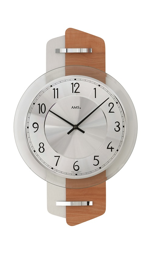 AMS9406  お洒落なデザインです! AMS アームス掛け時計