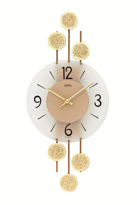 斬新なデザインが光ります! AMS アームス掛け時計  AMS9439