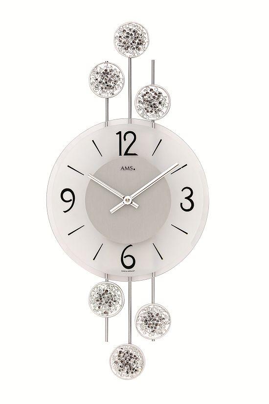 斬新なデザインが光ります! AMS アームス掛け時計  AMS9440