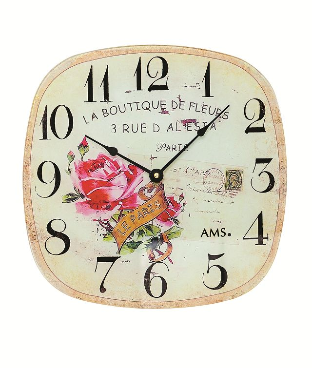 AMS9481 スクエアスタイルが斬新! AMS アームス掛け時計