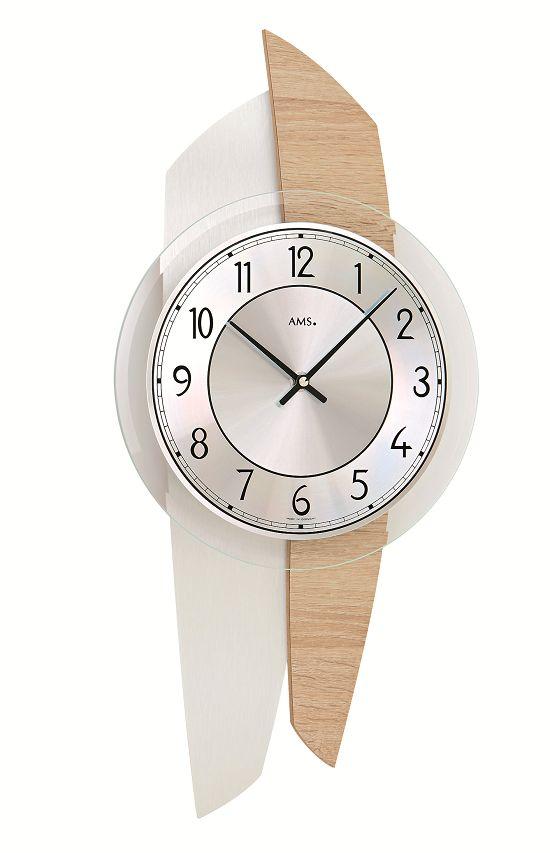 AMS9496 斬新なデザインが魅力! AMS アームス掛け時計 ドイツ