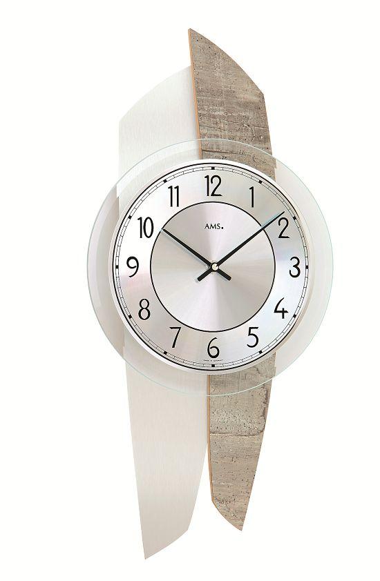 AMS9498 斬新なデザインが魅力! AMS アームス掛け時計 ドイツ