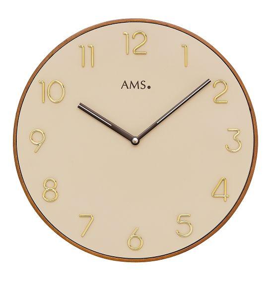 シンプルなデザインが魅力! AMS壁掛け時計 アームス掛け時計 AMS9563