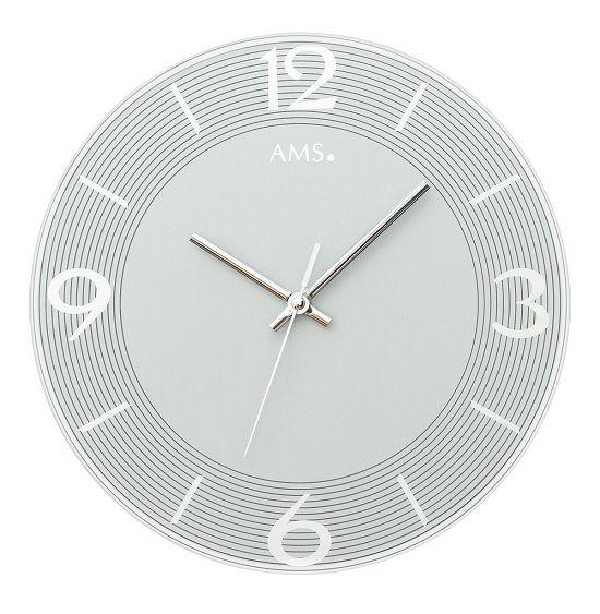 シンプルなデザインが魅力! AMS壁掛け時計 アームス掛け時計 AMS9571