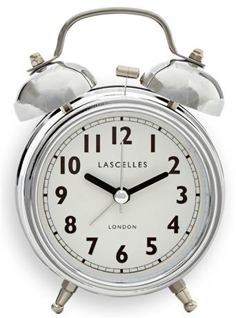 アラームクロック   ダブルベル CHROME  レトロ Loger Lascelles  目覚まし時計 ALB-LASC-CHROME ロジャーラッセル