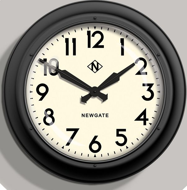 NEW GATEニューゲート掛け時計 Giant Electric ブラック GIANT INDUSTRIAL STATION WALL CLOCK AWN91MK