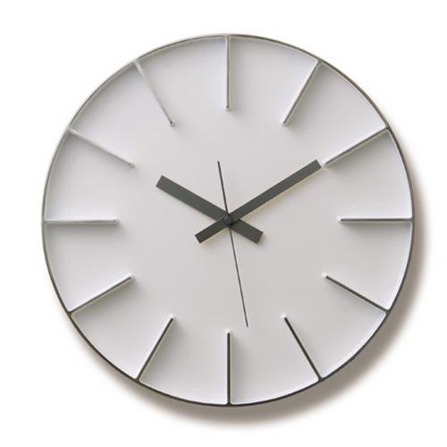 Lemnos レムノス 掛け時計 EDGE CLOCK ホワイト AZ-0115WH