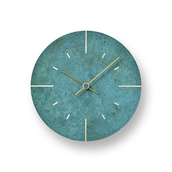Lemnos レムノス掛け時計  Orb   オーブ 真鍮 斑紋ガス青銅色 AZ15-07GN