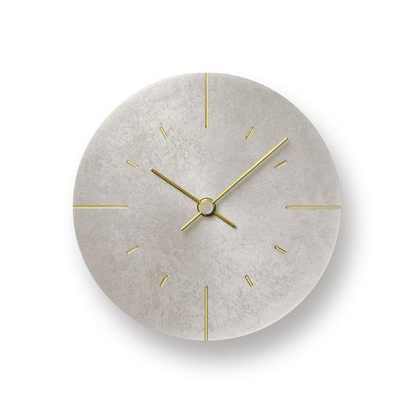 Lemnos レムノス掛け時計  Orb   オーブ 真鍮 斑紋純銀色 AZ15-07SL