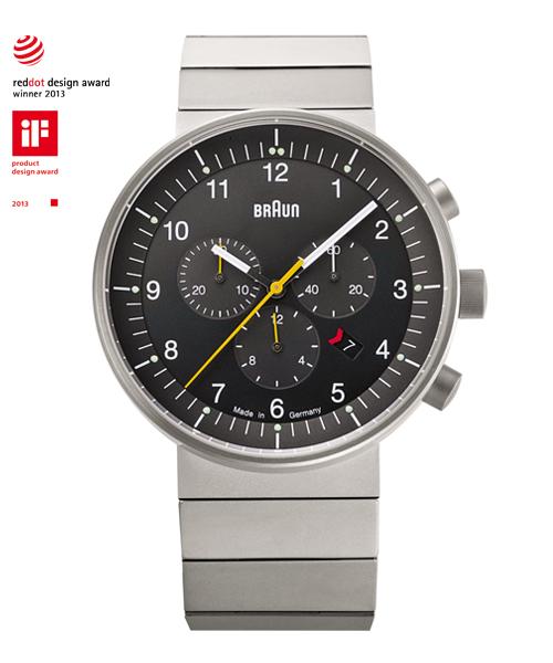 【日本正規代理店品】 ブラウンBRAUN腕時計 クロノグラフ  BN0095BKSLBTG